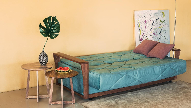 Диваны-кровати Клик-кляк с подлокотником